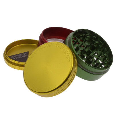 LARGE - RASTA - 4 PIECE SPACE CASE GRINDER