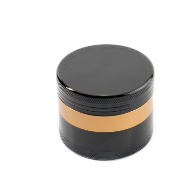 SMALL - BLACK w/GOLD - 4 PIECE SPACE CASE GRINDER