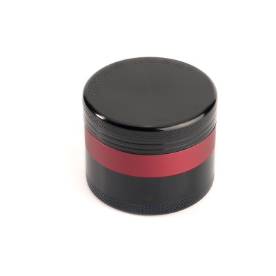 SMALL - BLACK w/RED - 4 PIECE SPACE CASE GRINDER