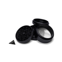 LARGE - BLACK TITANIUM - 4 PIECE SPACE CASE GRINDER