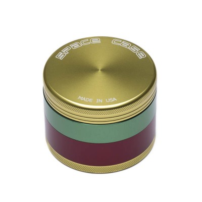 MEDIUM - RASTA - 4 PIECE SPACE CASE GRINDER